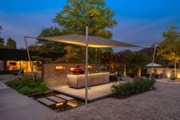 Gartenfotografie Küche im Garten Blaue Stunde
