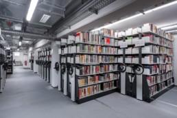 Architekturfotografie Nordost-Institut Bibliothek Archiv Regale