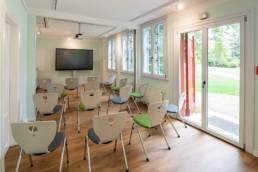 Gärtnerhaus, Seminarraum mit Stühlen bestuhlt